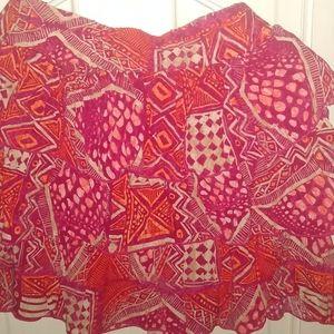 "Delia's XS Geometric 14"" Multi-colored Mini Skirt"